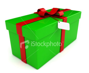stock-photo-4529519-christmas-present-square-with-bow-tag-isolated