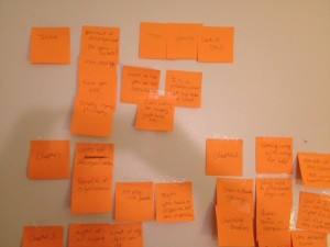 book post it outline